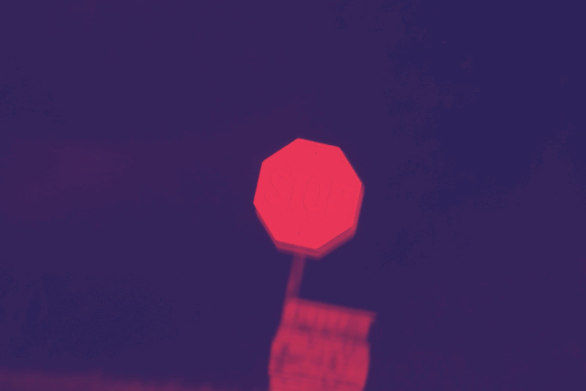 silhouette of a stop sign