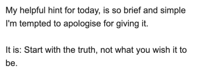 A snippet from an email from Drayton Bird — transcript below.
