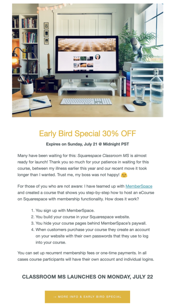 An example sales email from Kerstin Martin.