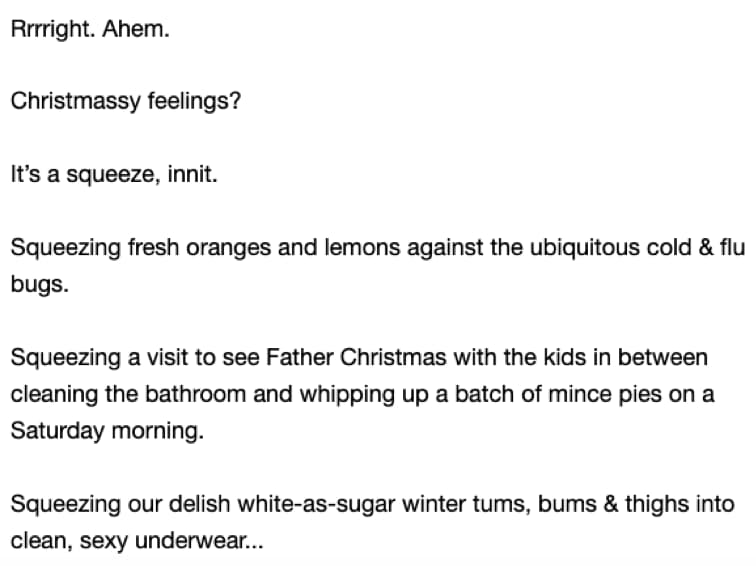 Beginning of email 3 (full transcript below)