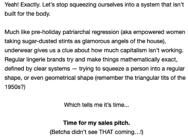 second part of email 3 (full transcript below)