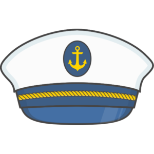 Captain's hat, one of the illustrations used in the old branding of With jack