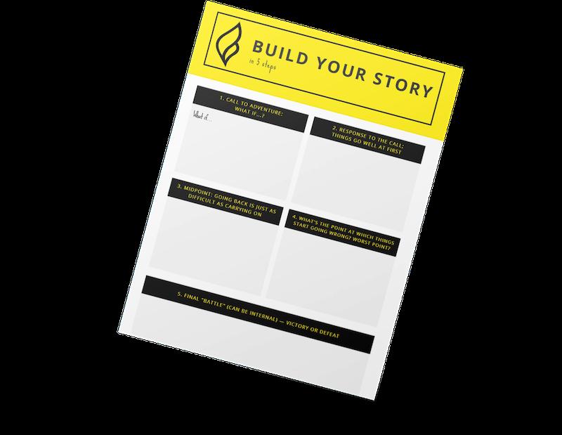 mockup of the from scratch storybuilder worksheet